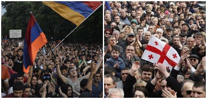 După protestele opoziției din Armenia, urmează Georgia?