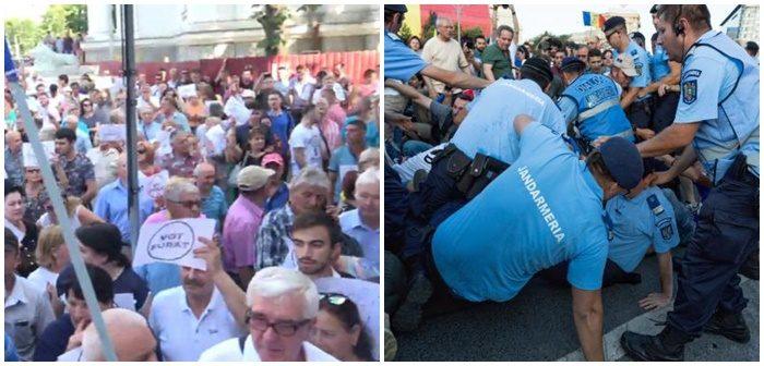 Proteste pe cele două maluri ale Prutului: Guvernările și justiția ne îngenunchează