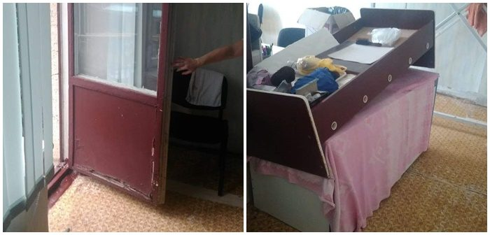 (FOTO) Dezastru la o grădiniță din Chișinău. Reparațiile se fac din banii părinților