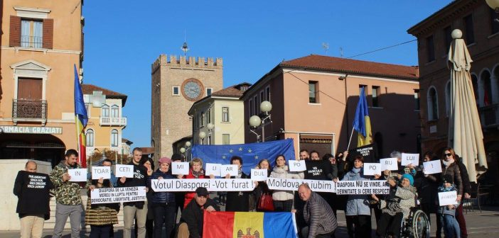 (Foto) Reprezentanți ai diasporei din Italia au ieșit astăzi la proteste. Iată ce rezoluție au adoptat